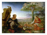 Rest on the Flight Into Egypt, 1805-6 Giclee Print by Philipp Otto Runge
