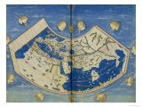 Map of the World with the Twelve Winds Giclee Print by  Ptolemy