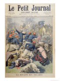 The Defeat of the Tuaregs, Front Cover of Le Petit Journal, 30th April 1894 Giclee Print by Frederic Theodore Lix