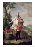 Full Length Portrait of Joseph II Giclée-tryk af Anton von Maron