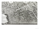 Plan of Paris, Known as the Plan de Turgot, Engraved by Claude Lucas, 1734-39 Giclee Print by Louis Bretez