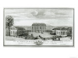 View of the Courtyard Facade of the Bellevue Castle, c.1750 Giclee Print by Jacques Rigaud