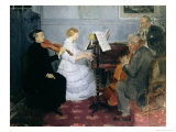 Chamber Music Concert, c.1885-90 Giclee Print by Jules-Alexandre Gr&#252;n