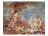 Rinaldo in the Gardens of Armida Giclee Print by Jean-Honoré Fragonard