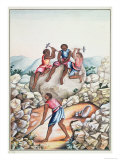 Slaves Diamond Mining in the Serro Frio Region, Minas Gerais, Brazil Giclee Print by Carlos Juliao
