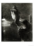 Sappho and Leucade, Also Known as the Death of Sappho Giclee Print by Baron Antoine Jean Gros