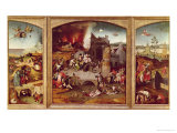 Triptych of the Temptation of St. Anthony Giclee Print by Hieronymus Bosch
