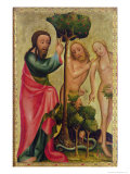 God the Father Punishes Adam and Eve, Detail from the Grabow Altarpiece, 1379-83 Giclee Print by Master Bertram of Minden