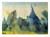 The Garden of Eden, Detail from the Right Panel of the Garden of Earthly Delights, c.1500 Giclée-Druck von Hieronymus Bosch