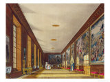 The Ball Room, Hampton Court, from 'The History of the Royal Residences', Engraved by Richard Reeve Giclee Print by Richard Cattermole