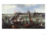 View of the Port of Antwerp During the Celebrations of the Taking of Breda, 1628 Giclee Print by Bonaventura Peeters