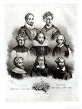 Famous Authors: Miguel de Cervantes Giclee Print by Jacques Francois Gauderique Llanta