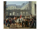 The Duke of Orleans Leaves the Palais-Royal and Goes to the Hotel de Ville on 31st July 1830, 1832 Giclee Print by Antoine Charles Horace Vernet