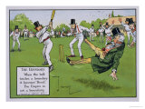 The Boundary, Illustration from Laws of Cricket, Published 1910 Giclee Print by Charles Crombie