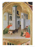 Agostino Novella Rescuing a Child Who Has Been Bitten, Blessed Agostino Novello Altarpiece, c.1328 Giclée-tryk af Simone Martini