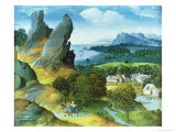 Landscape with the Flight Into Egypt Giclee Print by Joachim Patenir