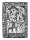 Angels Behind the Inner Sanctuary, from The Kelmscott Chaucer, Published by Kelmscott Press, 1896 Giclee Print by William Morris