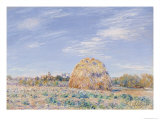 Haystack on the Banks of the Loing, 1891 Giclee Print by Alfred Sisley