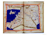 Map of Phoenicia, Mesopotamia and Babylon Giclee Print by  Ptolemy