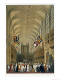 Interior of St George's Chapel, 1838 Giclee Print by James Baker Pyne