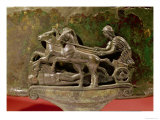 Charioteer in His Chariot, Detail from a Cist, 8th-1st Century BC Giclee Print by  Etruscan