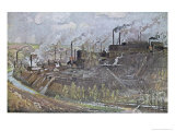Forges and Steelworks at Freiberg, Saxony Giclee Print by Eugen Felix Prosper Bracht