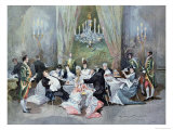 Act II, Scene 10 from Le Reveillon by Henri Meilhac Giclee Print by Edmond Morin