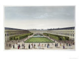 Gardens of the Palais Royal, from the Galeries de Bois, Engraved by Aubert Fils, c.1815-20 Giclee Print by Henri Courvoisier-Voisin