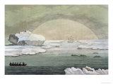 Iced-In British Whaleboat Liberated by Sun&#39;s Rays, Baffin Bay, c.1817 Giclee Print by Paolo Fumagalli