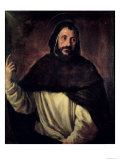 St. Dominic Giclée-tryk af  Titian (Tiziano Vecelli)