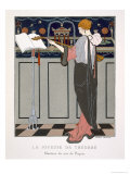 The Theorbo Player, Design For an Evening Coat by Paquin, 1920S Giclee Print by Georges Barbier