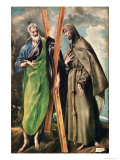 Ss. Andrew and Francis of Assisi, After 1576 Giclee Print by  El Greco