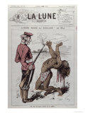 Order Reigns in Zuzuland, Caricature, English Colonisation of South Africa, La Lune Rousse, 1879 Giclee Print by André Gill