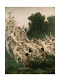 The Oreads, 1902 Reproduction procédé giclée par William Adolphe Bouguereau