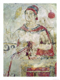 Woman at Her Toilet, Detail from a Funerary Scene, Samnite Period, 5th-4th Century BC Giclee Print by  Etruscan