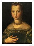 Portrait of Maria De' Medici, 1551 Giclée-tryk af Agnolo Bronzino