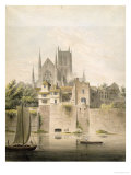 West View of Worcester Cathedral, 1798 Giclee Print by John Powell