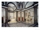 View of the Interior Showing the Tomb of Giuliano De' Medici Giclee Print by  Michelangelo Buonarroti