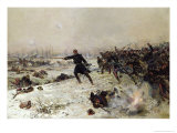 Episode of the War of 1870, Battle of Chenebier, 16th January 1871, 1882 Giclee Print by Alphonse Marie de Neuville