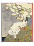 Un Peu, Design For a Country Dress by Paquin, c.1913 Giclee Print by Georges Barbier