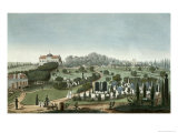 View of Pere Lachaise Cemetery from the Entrance, 1815 Giclee Print by Pierre Courvoisier