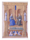 Christ and the Virgin Mary Enthroned, from the Book of Hours of Louis D'Orleans, 1469 Giclee Print by Jean Colombe