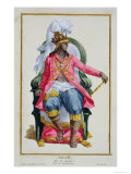 Amar, King of Ouidah, from Receuil Des Estampes, c.1780 Giclee Print by Pierre Duflos