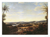 Brazilian Landscape with a Plantation Giclee Print by Frans Jansz Post
