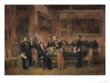 Council of Ministers at the Tuileries Signing the Law of Regency, 15th August 1842, 1844 Giclee Print by Claude Jacquand