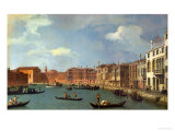 View of the Canal of Santa Chiara, Venice Giclee Print by Canaletto 