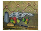 Fruit, Serviette and Milk Jug, c.1879-82 Giclee Print by Paul Cézanne