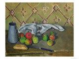 Fruit, Serviette and Milk Jug, c.1879-82 Giclee Print by Paul Cézanne