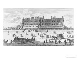 View of the Chateau de Saint-Germain-En-Laye, 1658 Impression giclée par Israel, The Younger Silvestre