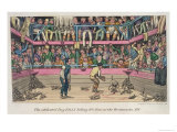 Celebrated Dog Billy Killing 100 Rats at Westminster Pit, c.1825 Giclee Print by Theodore Lane